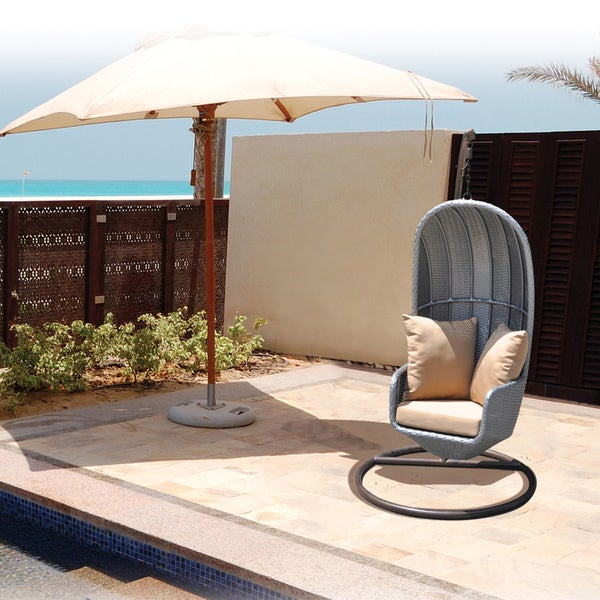 Bellis Outdoor Free Standing Wicker Swing Chair Free