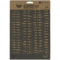 """Finnabair Stencil 7""""X9""""-Basket"""