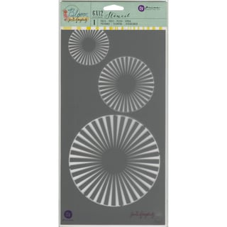 """Jamie Doughtery Bloom Stencil 6""""X12""""-Circles"""