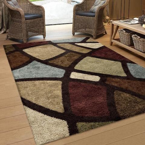 Orian Rugs Essential Shag Circlebloom Multi-Color