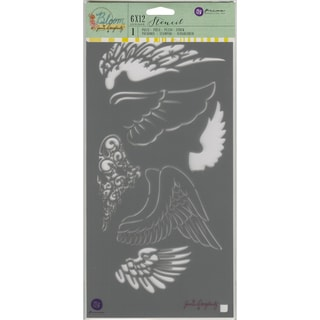 "Jamie Doughtery Bloom Stencil 6""X12""-Wings"