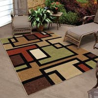 Carolina Weavers Bermuda Collection Geo Stack Multi Area Rug (7'8 x 10'10)