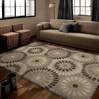 Carolina Weavers Serenity Collection Neutral Blade Gray Area Rug (5'3 x 7'6)