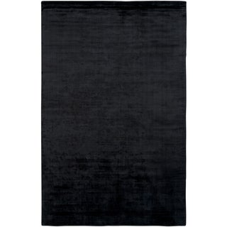 Satori Black Rectangle Solid Area Rug (8' x 10')