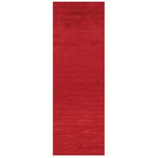 Satori Red Runner Solid Area Runner Rug (2'5 x 7'9)