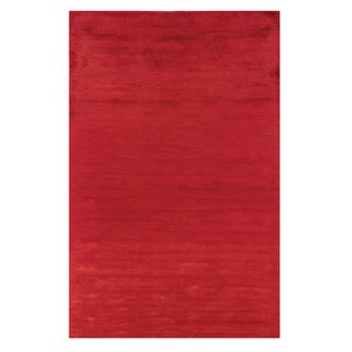 Satori Red Rectangle Solid Area Rug (5' x 7'9)