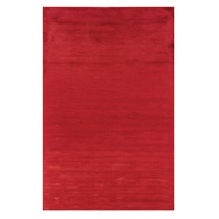 Satori Red Rectangle Solid Area Rug (8' x 10')