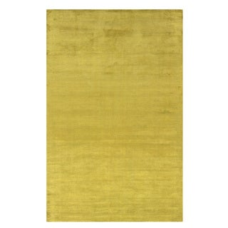 Satori Lime Rectangle Solid Area Rug (5' x 7'9)