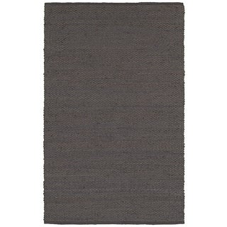 Elite Natural Fiber Pewter Braided Area Rug (9'x12')