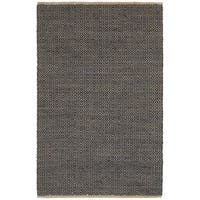LR Home Elite Natural Fiber Indigo Braided Area Rug ( 9' x 12' ) - 9' x 12'