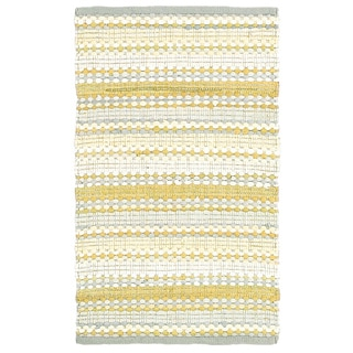 Altair Yellow Floral Area Rug (8' x 10')