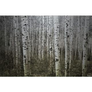 Parvez Taj 'Aspen Highlands' Painting Print on Brushed Aluminum
