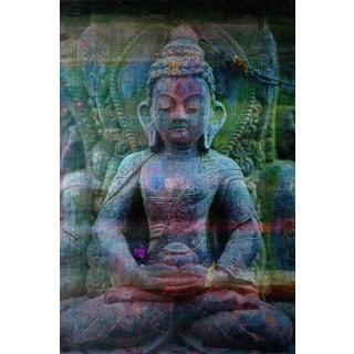 Parvez Taj 'Haldia' Painting Print on Brushed Aluminum