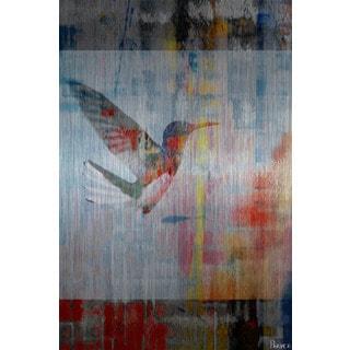 Parvez Taj 'Access Subconscious' Painting Print on Brushed Aluminum
