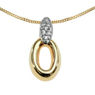 Michael Valitutti 10k Yellow and White Gold Diamond Accent Necklace