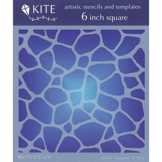 "Judikins 6"" Square Kite Stencil-Flagstone"