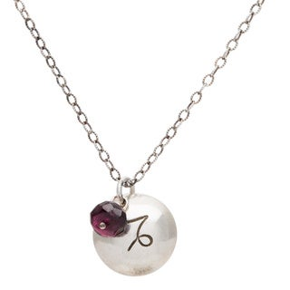 Capricorn Sterling Silver Birthstone Necklace