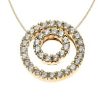 Michael Valitutti 14k Yellow Gold Cubic Zirconia Round Necklace