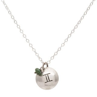 Gemini Sterling Silver Birthstone Necklace