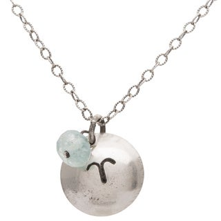Aries Sterling Silver Birthstone Necklace