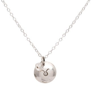 Taurus Sterling Silver Birthstone Necklace