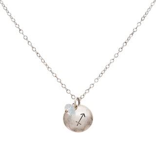Sagittarius Sterling Silver Birthstone Necklace