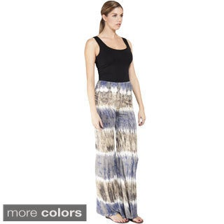Handmade Tie-dye Stripe High Waist Lounge Pants (Nepal)