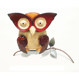 Handmade Iron Owl Wall Decor (Indonesia)