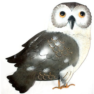 Iron Grey Owl Wall Decor (Indonesia)