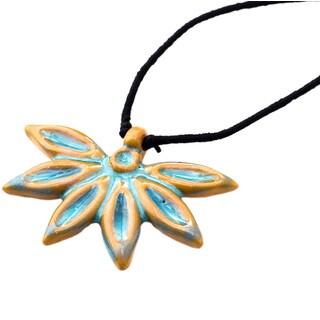 Handmade Ocean Blue Petals Necklace (India)