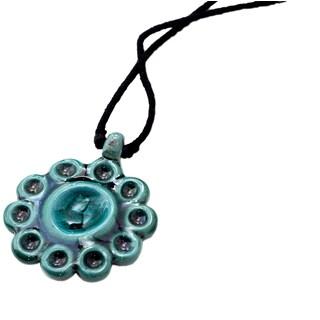 Handmade Blossom Aqua Necklace (India)