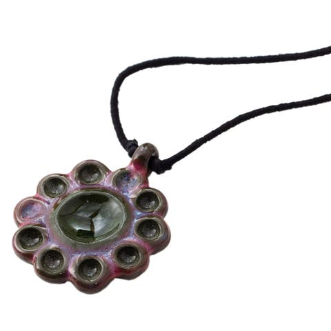 Handmade Blossom Forest Necklace (India)
