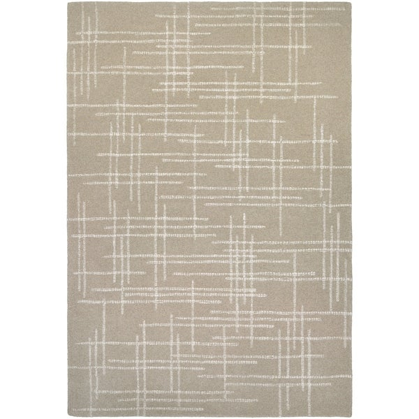 "Hand-Crafted Barlow Linen Tan Area Rug - 3'6"" x 5'6"""