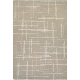 Couristan Super Indo-Natural Cresson/Linen Wool Area Rug - 3'6 x 5'6