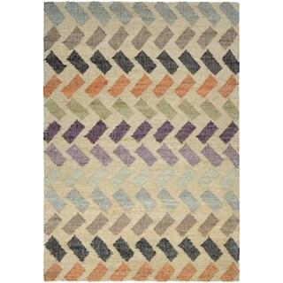 Couristan Mesquite Santa Clara/Linen-Multi Area Rug - 5'3 x 7'6
