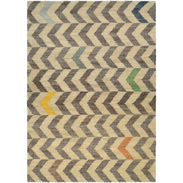 Couristan Mesquite Encino/Linen-Cocoa Area Rug - 5'3 x 7'6