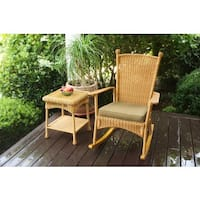 Havenside Home Lincolnville Outdoor Classic Rocking Chair - Southwest Amber
