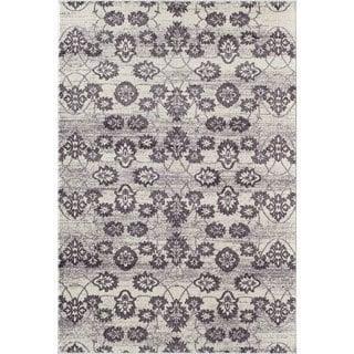 Radiant Purple/ Cream (5' x 8') Rug
