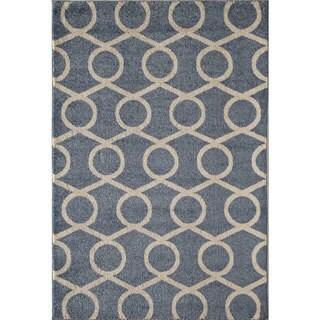 Canyon Beige/ Blue (5' x 8') Rug