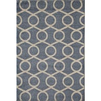 Canyon Beige/ Blue Area Rug - 5' x 8'