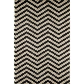 Canyon Black/ Ivory (5' x 8') Rug