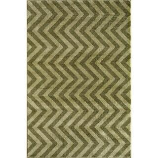 Canyon Green/ Light Green (5' x 8') Rug
