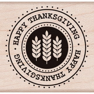 """Hero Arts Mounted Rubber Stamps 1.5""""X1.75""""-Happy Thanksgiving Seal"""