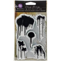 "Prima Cling Stamp 4""X6""-Paint Drips"