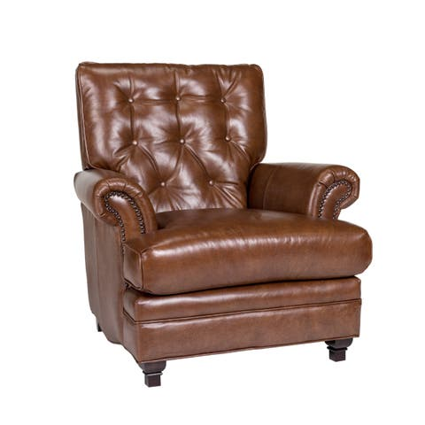 Pablo Fedora Chestnut Leather Chair