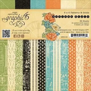 "Graphic 45 Paper Pad 6""X6"" 36/Pkg-Artisan Style"