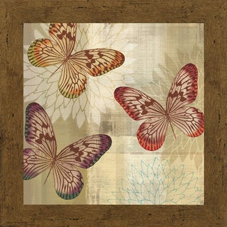 Tandi Venter 'Tropical Butterflies l' 22 x 22 Framed Art Print