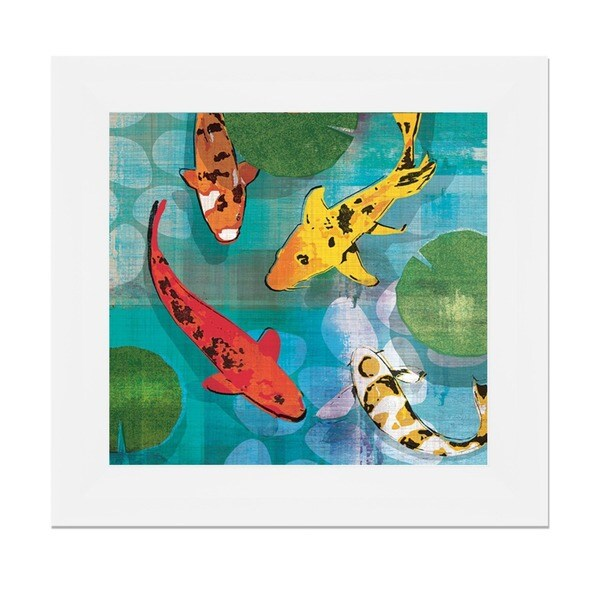 Tandi Venter 'Lucky Koi l' 22 x 22 Framed Art Print