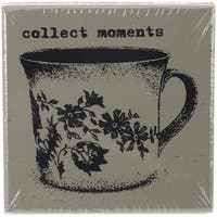 """Finnabair Wood Mounted Stamps 2""""X2""""-Collect Moments"""