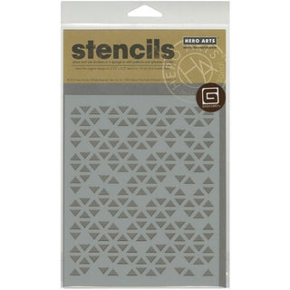 Basic Grey Prism Frosted Mylar Stencil By Hero Arts-Triangle